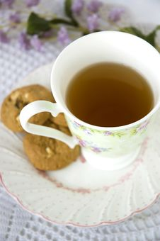 Free Afternoon Tea In Sweet Style Royalty Free Stock Photos - 22008168