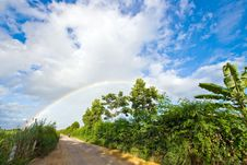Pathway To Rainbow Royalty Free Stock Image