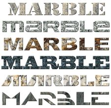 Free Six Words Marble Stock Photography - 22008262