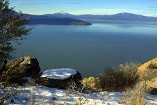 Free Winter Lake Horizon Stock Images - 22008444