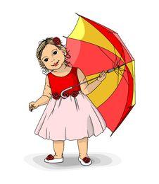 Free Girl With Umbrella Royalty Free Stock Photos - 22009858