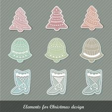 Free Christmas Elements Royalty Free Stock Photo - 22009995