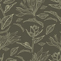 Free Vector Seamless Floral Vintage Pattern Royalty Free Stock Image - 22010506