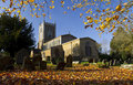 Free Church And Grave Yard At Badby With Autumn Leaves Royalty Free Stock Photos - 22014638