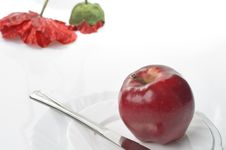 Free Apple Food Over White Stock Photo - 22010240