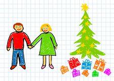 Free Christmas Drawing Royalty Free Stock Photos - 22011608