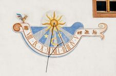 Painted Sundial Royalty Free Stock Photography