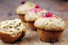 Free Cranberry Pumpkin Muffins Stock Images - 22014174
