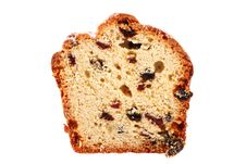 Free Slice Of Cake With Raisins Royalty Free Stock Photos - 22016988
