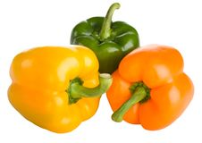 Free Three Bell Peppers Royalty Free Stock Photos - 22019808
