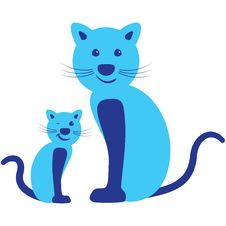 Free Pair Of Cat - Parent And Child Stock Photo - 22019930