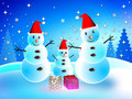 Free Snowman On Christmas Day. Royalty Free Stock Photos - 22022968