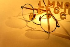 Free Alphabet And Spectacles Stock Image - 22020661
