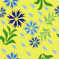 Free Seamless Floral Background Royalty Free Stock Photos - 22022068