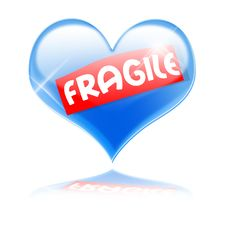 Free Fragile Heart Royalty Free Stock Images - 22024659
