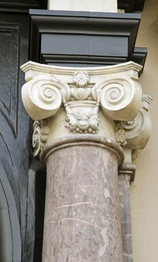 Free Interesting Ancient Building Column Fragment. Royalty Free Stock Photos - 22024718