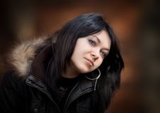 Free Young Woman In A Jacket Royalty Free Stock Photo - 22025055