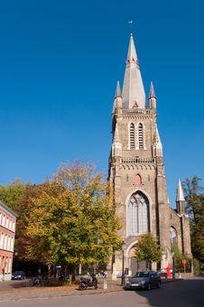 Magdalenakerk Church At Brugge - Belgium Stock Photo
