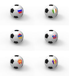 Free Euro 2012, Soccer Ball With Flag - Group B Royalty Free Stock Photography - 22028187