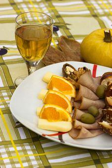 Mediterranean Meal Royalty Free Stock Photos