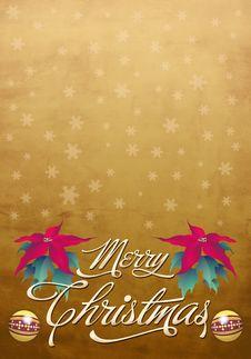Free Beautiful Christmas Card - Poster Template Stock Photos - 22029423