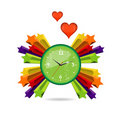 Free Green Eco And Love Clock Sign Stock Image - 22034121