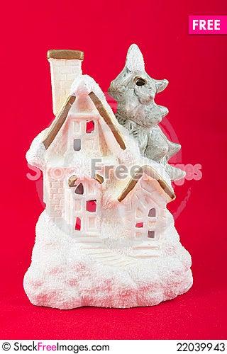 Free Winter House Christmas Decoration Lantern Stock Photos - 22039943