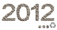 Free 2012 Happy New Year With Conservation Royalty Free Stock Image - 22031526