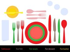 Free Place Setting Royalty Free Stock Photo - 22033575