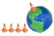 Free Emergency Cone And Globe Stock Images - 22034444