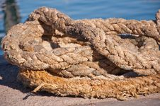 A Ship Rope Royalty Free Stock Photography