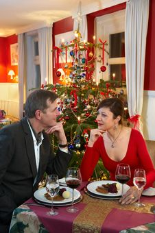 Free Christmas Dinner Stock Photography - 22038392