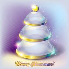 Free Abstract Glass Christmas Tree Royalty Free Stock Photos - 22038488