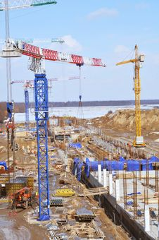 Free Construction Site Royalty Free Stock Image - 22038706