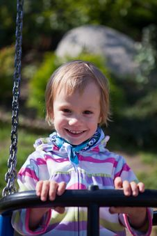 Free Little Girl On The Swing. Stock Image - 22038861
