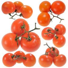 Three Red Tomatoes Royalty Free Stock Images
