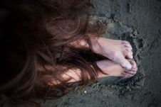 Free Hair And Feet Royalty Free Stock Photo - 22039245