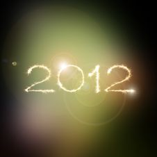 Free New Year 2012 In Space Royalty Free Stock Photography - 22039477