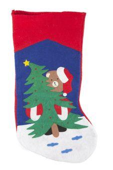 Free Christmas Sock Decoration Royalty Free Stock Image - 22039886