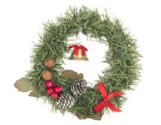 Free Christmas Wreath Decoration Stock Images - 22039964