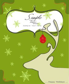 Free Reindeer Silhouette Royalty Free Stock Photos - 22040458