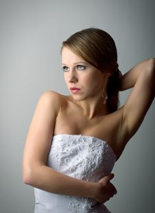 Free Beautiful Charming Young Woman In White Corset Stock Photography - 22040782