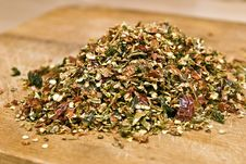 Dry Red Pepper Flakes Royalty Free Stock Photos
