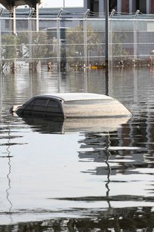 Flooded Car Stock Image
