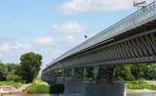 Free Highway Bridge On River PO Royalty Free Stock Image - 22043186