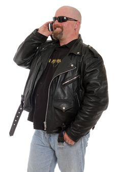 Free Tough Guy On The Phone Stock Images - 22044524