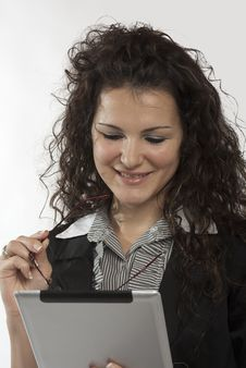 Free Businesswoman Working On Tablet Pc Royalty Free Stock Photo - 22045065
