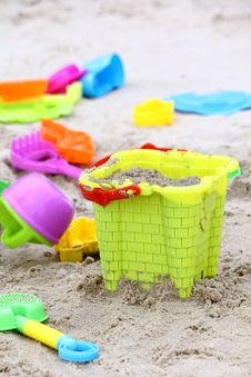 Sand Beach Toy Royalty Free Stock Images