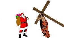 Free Jesus-Santa Royalty Free Stock Photo - 22048195