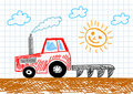 Free Drawing Of Tractor Royalty Free Stock Photo - 22052925